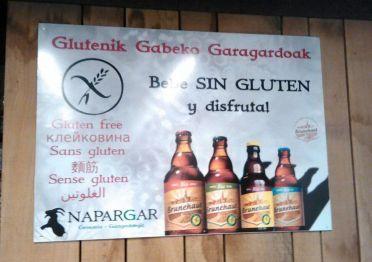 Cartel Cervezas sin gluten