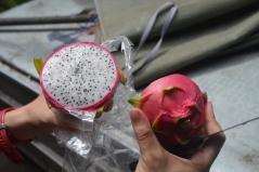 Fruta de la pasión abierta