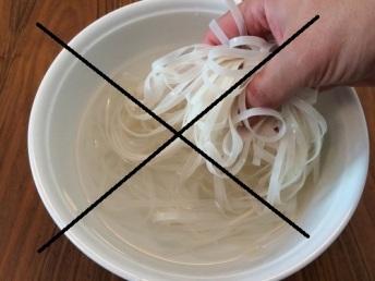 Fideos de arroz anchos