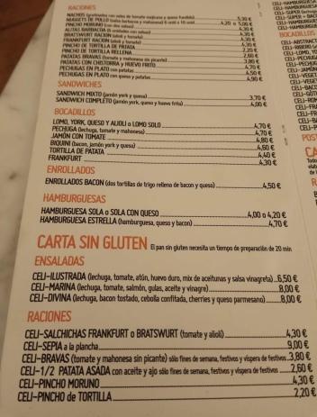 carta sin gluten eva