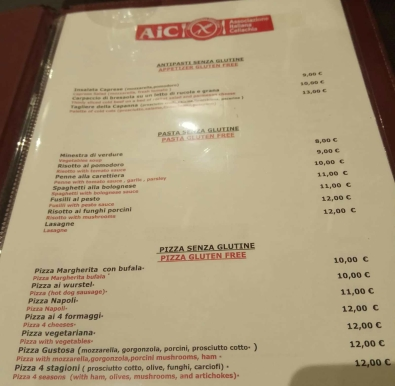 menu la campanna