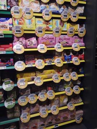 Supermercados sin gluten