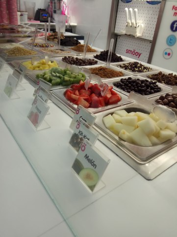 diferentes toppings