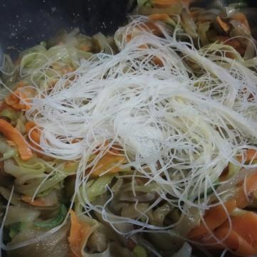 a+¦adir los fideos de arroz