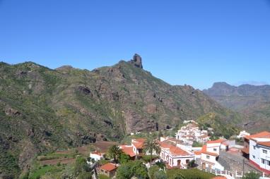 roque Bentayga desde tejeda