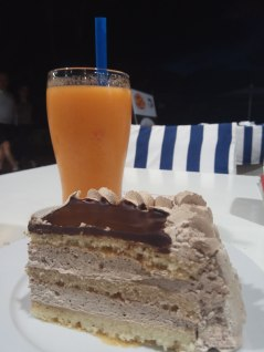 tarta y batido