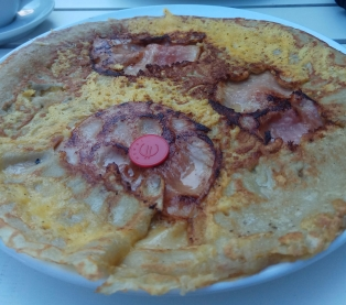 pancake jamón y queso
