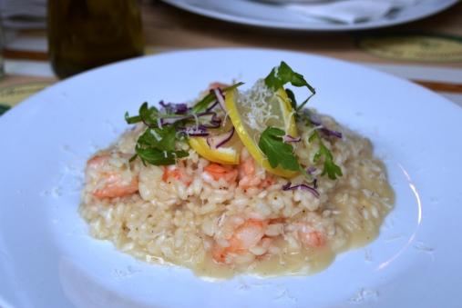 risotto de gambas y lomón
