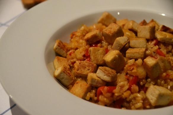 receta de arroz integral con tofu